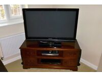 "42"" Panasonic plasma TV + Blue Ray DVD player and surround sound speakers for sale"