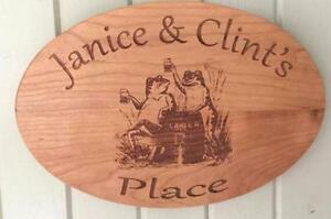 Custom Laser Engraved Hardwood Signs and Plaques