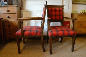 PAIR OF ARTS & CRAFTS OAK ARMCHAIRS LIBERTY'S OF LONDON