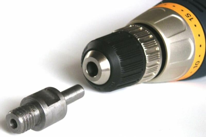 "Core Drill Bit Adapter 5/8""-11 UNC Thread Male to 3/8"" Shank Diamond Power"