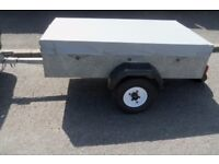 CADDY 530 GALVANISED TRAILER WITH COVER AND SPARE WHEEL 5' X 3'