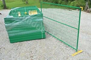 TEMPORARY FENCE PANELS 6 x 10 or 6 x 8 - Galvanized & Rubber Coated - Premium Quality Construction Safety Security Fence