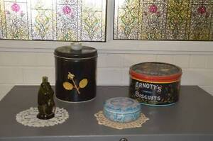 Biscuit Tins, Avon Bottle and Tin Burleigh Heads Gold Coast South Preview