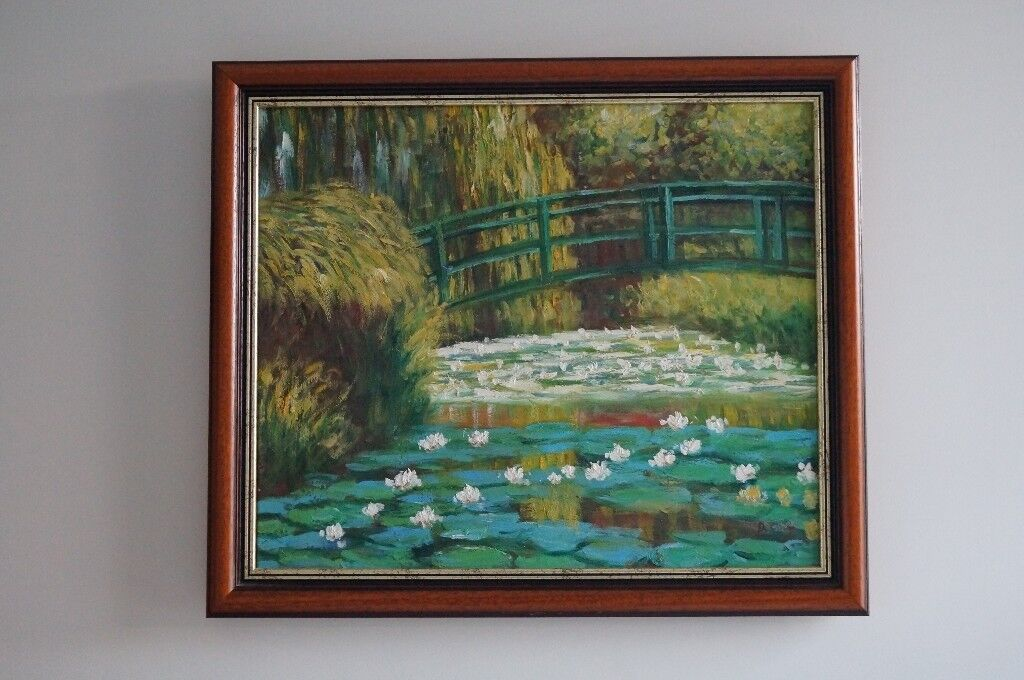 Oil Painting Hand Painting Reproduction of Water Lily Pond of Monet ...