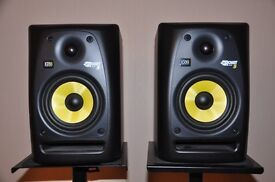 KRK active monitors Rokit 5 - RPG2 with stands and leads