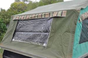 Cameron Canvas camper trailer with  annexe pegs and poles. Barmera Berri Area Preview