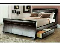 lather bed frame king size