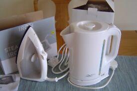 Starter kitchen appliances - Unused kettle, iron and toaster