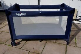 *Reduced* BabyDan Travel Cot - Blue