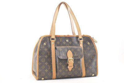 LOUIS VUITTON Monogram Dog Carrier Sac Bag Star M42027 Auth sa685