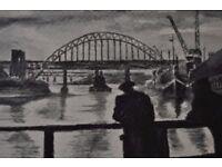 Tyne Bridge original painting