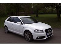 Candy White Automatic Audi A3 1.8 TFSI S-Line Tronic 3dr