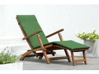 Chichester FSC Eucalyptus Wood Outdoor Steamer Chair with Weather-tex cushion