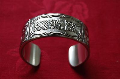 Irish CELTIC Knot BANGLE Bracelet - Made in Ireland by Mullingar Pewter