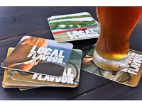 Beer coasters with your logo – that's cheap advertising