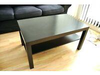 Ikea Lack coffee table with shelf in black