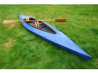 VINTAGE WOOD FRAME AND CANVAS KAYAK CANOE - GREAT WINTER PROJECT