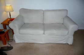 3 piece suite with storage footstool.