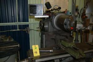 Schaublin Universal Milling Machine. Type 53. w/ 3 axis DRO. Very well equipped!