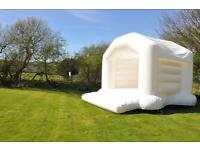 White (Wedding) bouncy castle for sale