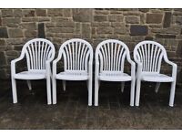 set of 4 garden chairs patio chairs