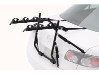 High quality trunk mounted Bike carrier, easy to install, fits most cars. Carries 3 bikes