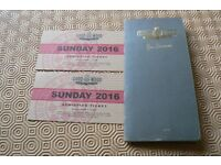 2 x GOODWOOD REVIVAL SUNDAY ENTRY TICKETS