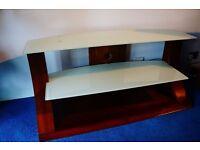 John Lewis Jual Furnishings Walnut Wood Veneer 110cm TV stand/Entertainment Unit