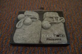 New Mini gray Hottie Knitted Cover Gel Hand Warmers