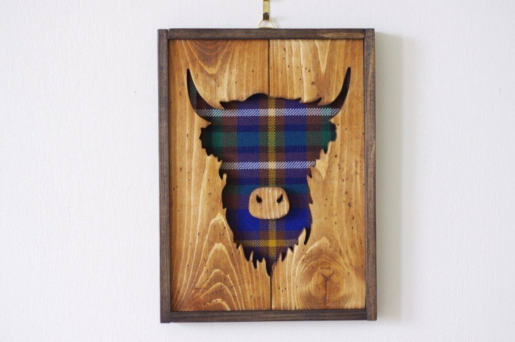 Small Highland Cow Wall Decoration Graduation Gift Scottish Cow