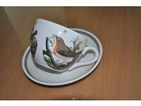 portmeirion cup and saucer robin