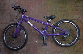 Childs bike 5-7yo Frog 52, Purple