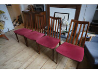 Four G Plan Fresco dining chairs