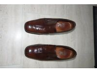 "Retro Brown leather Shoes, Men's 'Big K' Size 7 (1½ "" Heel)"