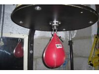 Boxing speed ball with solid heavy Platform & Pro Grade Swivel with solid bracket