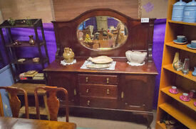 19th century Mirror Backed Sideboard