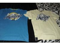 "SIZE MEDIUM PACK OF 2 MEN'S ""HENLEY'S"" SHORT SLEEVE T-SHIRTS"