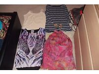 SIZE 12 SELECTION OF LADIES TOPS VARIOUS STYLES AND COLOURS