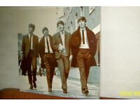 Beatles Full framed Large official Apple print approx 30 inch x 30 inch