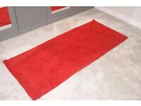 Red soft large rug