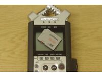 Zoom H4N recorder with case, SD card and USB cable