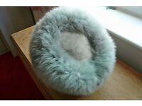 sheep skin hat