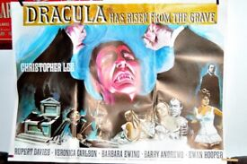 ORIGINAL MOVIE POSTER DRACULA (HAS RISEN FROM THE GRAVE) BRITISH QUAD IN LOVELY CONDITION