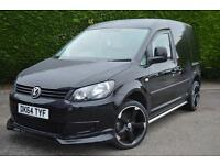 VOLKSWAGEN CADDY C20 TDI STARTLING 200 BHP VAN LOW MILES BENTLEY SEATS (black) 2014