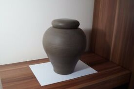 Cremation Urn handmade by craftsman! One of! Ceramic, Clay, Natural, Ecological!