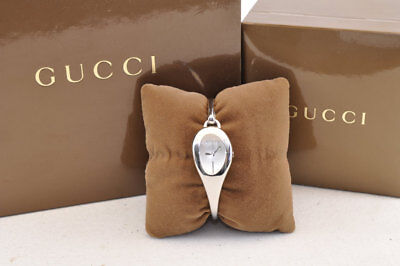 GUCCI 103  Horsebit Watch Floral Dial & Diamonds for Women Auth 3552
