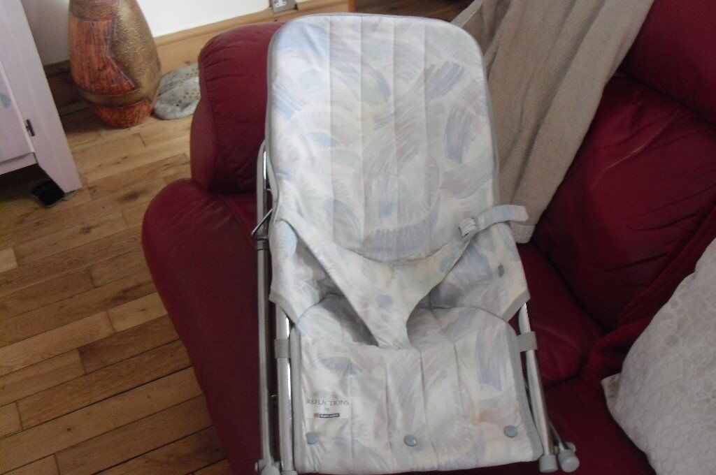 7e10c2bd08b3 BABY BOUNCER SEAT WITH SILVER METAL FRAME