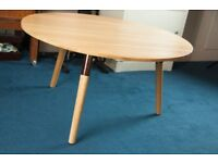 MADE COM Range Round Coffee Table, Solid Oak and Copper, RRP £249, designer table