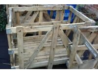 Free wooden crates (7 available)
