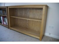 Two wide oakfunitureland Oak bookcases in very good condition for sale